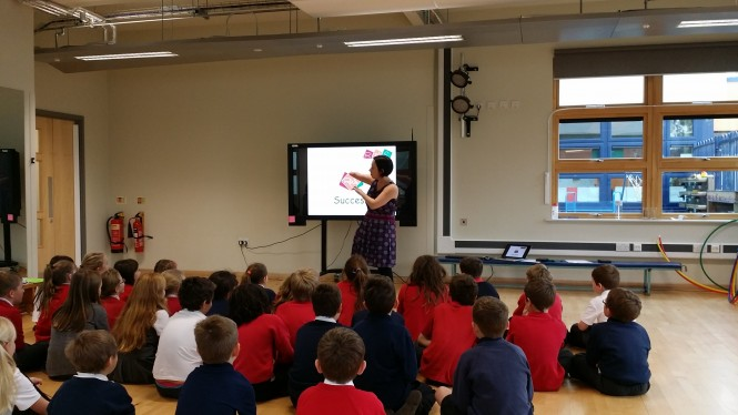 RWS | Resilience Wellbeing Success | Year 4 pupils listening intently to Elizabeth Wright