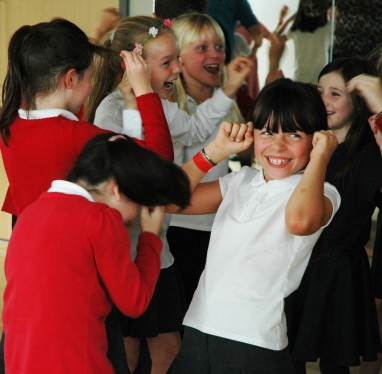 RWS | Resilience Wellbeing Success | Year 4 pupils doing Laughter Yoga