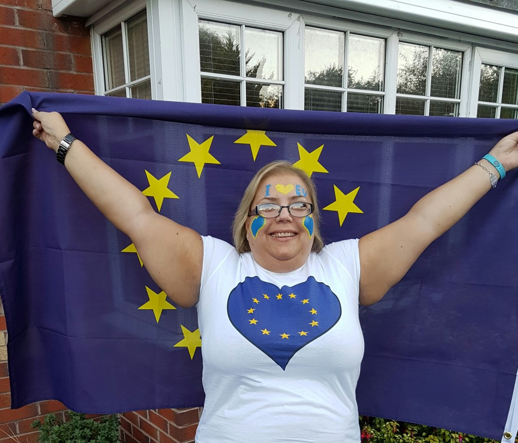 Frederika Roberts | Ready for March for Europe | Brexit