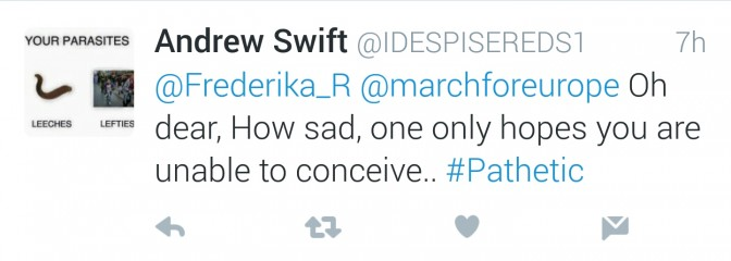 Brexit | March for Europe | Frederika Roberts | Abusive Tweet 2