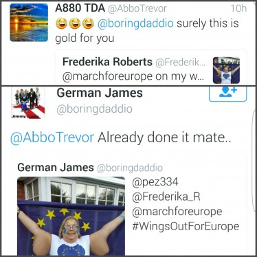 Brexit | March for Europe | Frederika Roberts | Abusive Tweet 3
