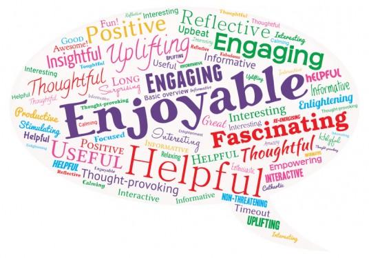 mental health and wellbeing workshops for SLT - one word feedback
